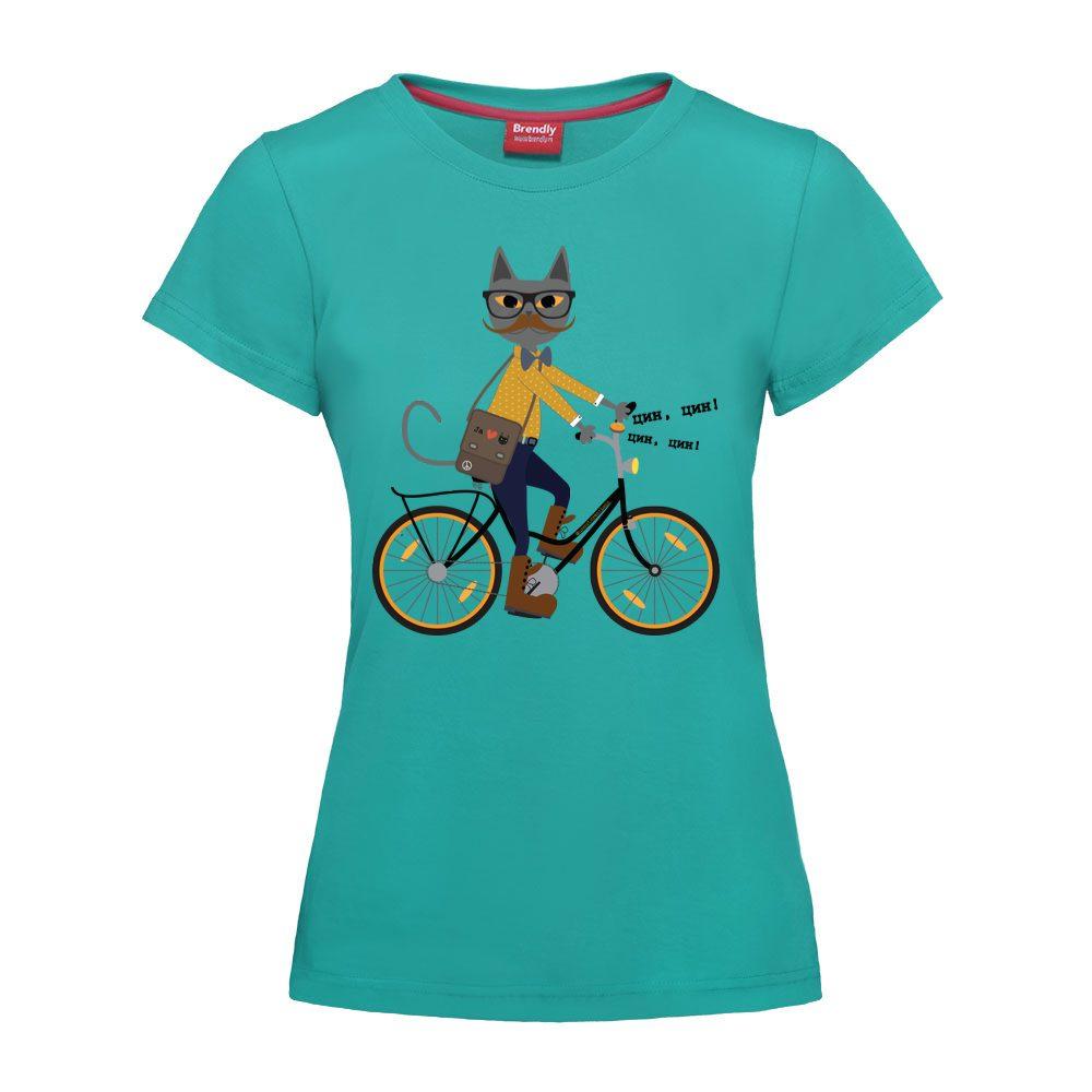 Hipster mačak na biciklu