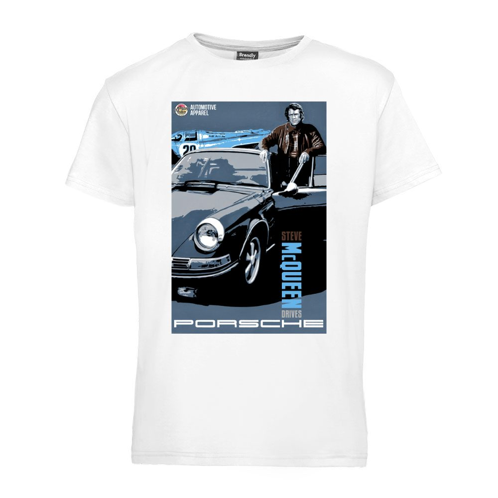 Steve McQueen drives Porsche