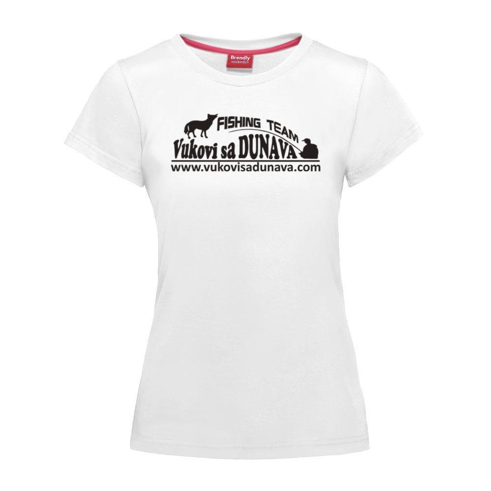 Ženska majica Vukovi sa DUNAVA - logo crne boje
